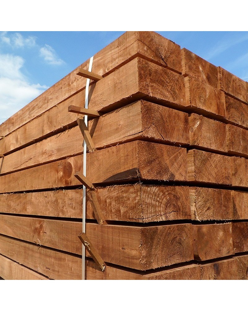 New Brown Treated Softwood Sleepers Buy New Treated Railway Sleepers Online From The Experts At Railway Sleeper