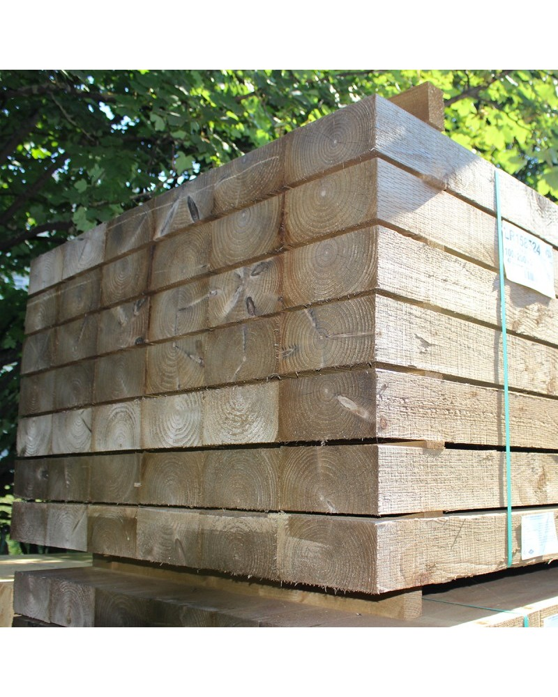 Incised Green Treated Sleepers Buy New Treated Railway Sleepers Online From The Experts At Railway Sleeper